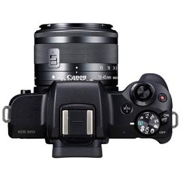 Canon EOS M50 Mirrorless Camera With EF-M 15-45mm IS STM Lens - Black Thumbnail Image 6